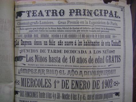 Cartel del Teatro Principal del 1 de enero de 1902