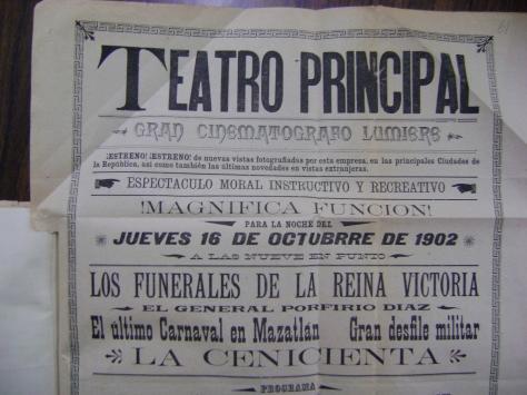 Cartel del Teatro Principal del 16 de octubre de 1902