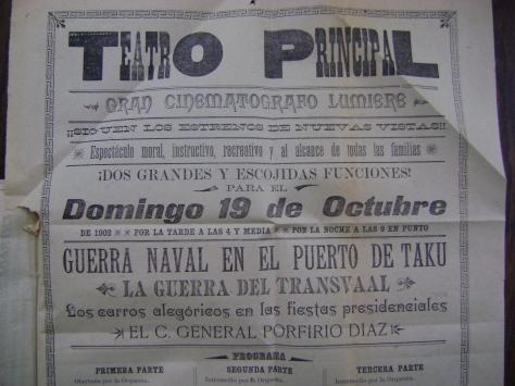 Cartel del Teatro Principal del 19 de octubre de 1902