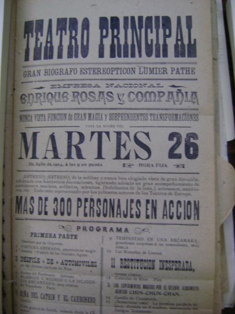 Cartel del martes 26 de julio de 1904