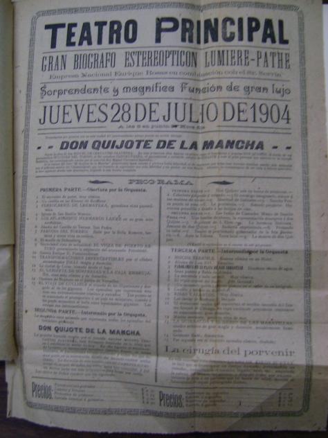 Cartel del Teatro Principal del 28 de julio de 1904