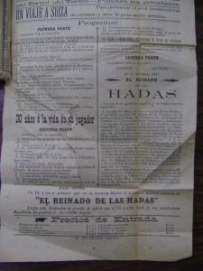 Cartel del jueves 4 de agosto de 1904