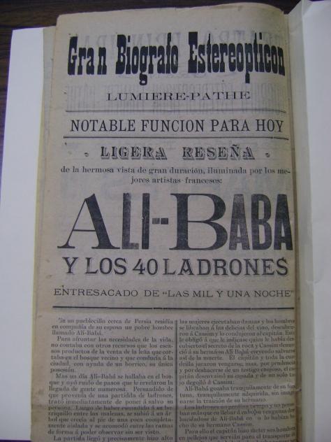 Reseña de Ali-Baba y los 40 ladrones del 19 de julio de 1904