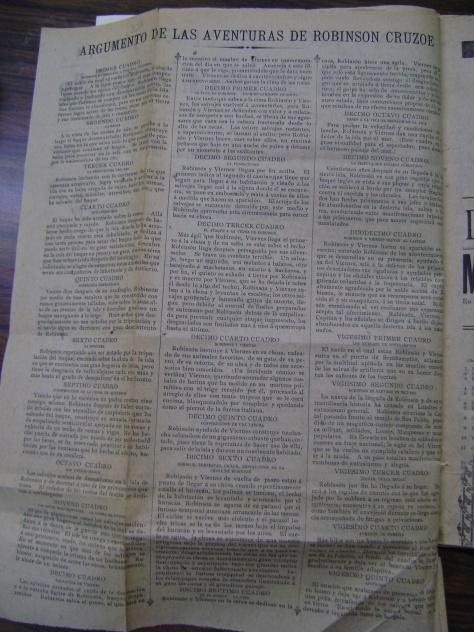 Reverso del cartel del 21 de julio de 1904