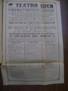 Cartel del Teatro Eden del 26 de septiembre de 1901