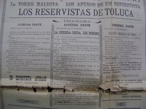 Cartel del Teatro Eden del 29 de septiembre de 1901