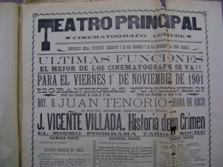 Cartel del Teatro Principal del 1 de noviembre de 1901