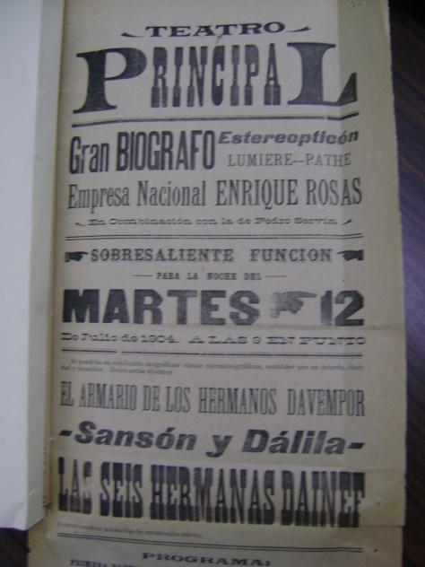 Cartel del Principal del 12 de julio de 1904