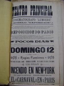 Cartel del Teatro Principal del 12 de mayo de 1901