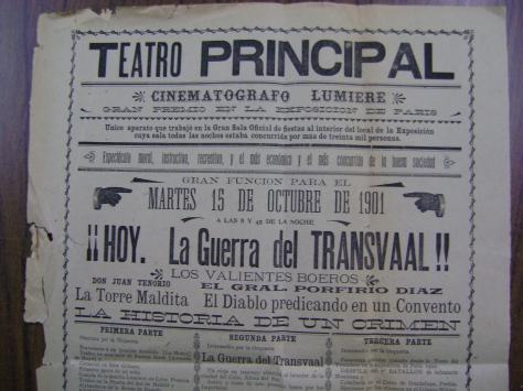 """El 15 de octubre de 1901 se proyectó una vista de """"El Gral. Profirio Díaz"""""""