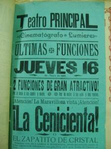 cartel del Teatro Principal del 16 de mayo de 1901