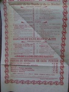 Cartel del Teatro Principal del 19 de mayo de 1901