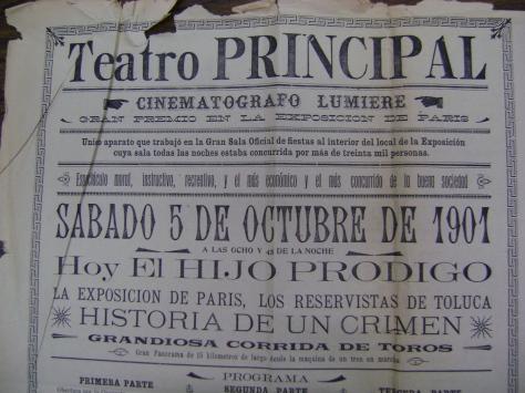 Cartel del 5 de octubre de 1901