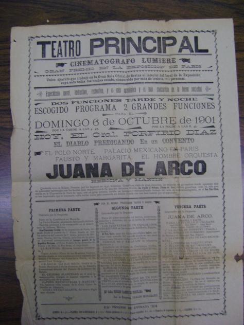 Anuncio de la función del 6 de octubre de 1901