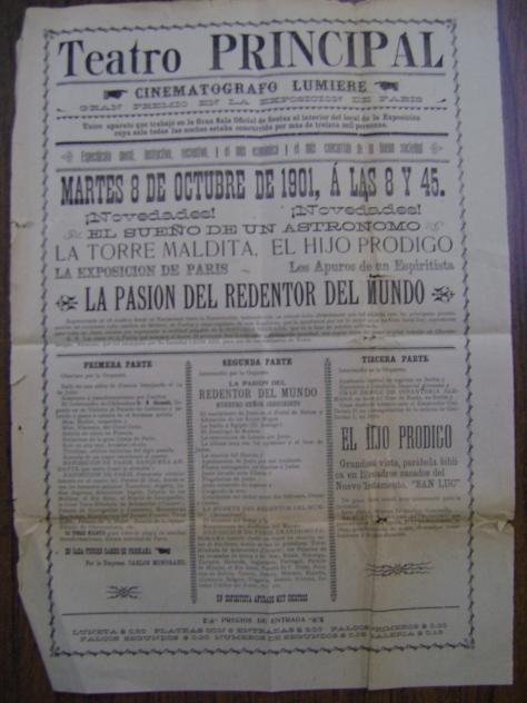 Cartel del Teatro Principal del 8 de octubre de 1901