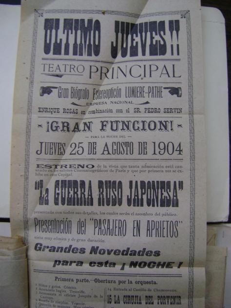 Cartel del jueves 25 de agosto de 1904