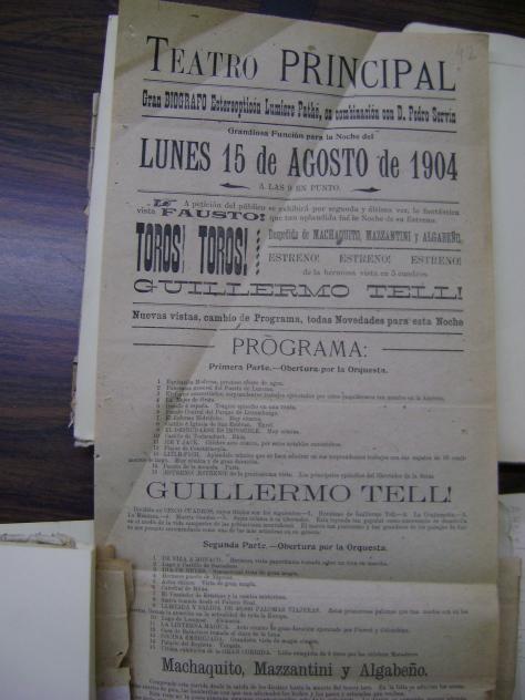 Cartel del lunes 15 de agosto de 1904