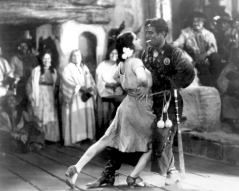 Lupe Vélez y Douglas Fairbanks en The Gaucho
