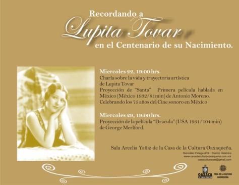 Sesión de cine en homenaje al centenario de Lupita Tovar