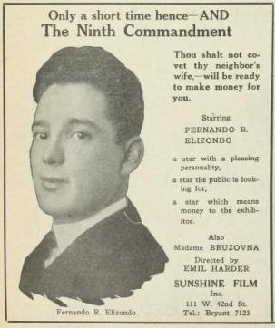 Publicidad aparecida en Film Daily del 29 de abril de 1920 (Vol. XII, No. 29, p. 6)