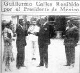 Guillermo Calles y el Pascual Ortiz Rubio en el Castillo de Chapultepec