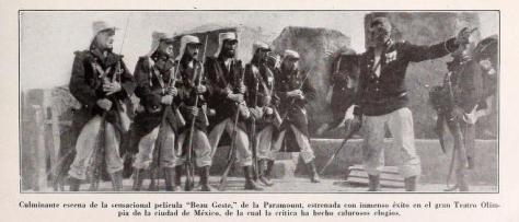 Fotograma que acompañó el artículo que publicó Mensajero Paramount en su número de abril de 1927