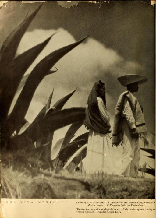¡Que viva México! Una película de S. M. Eisenstein, G. V. Alexandrov y Eduard Tissé, producida en México 1931-32.