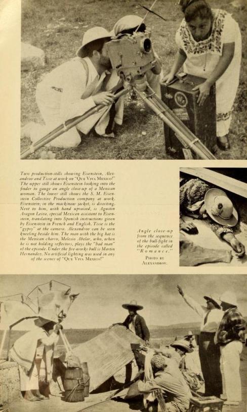 """Un ángulo close-up de la secuencia de la corrida de toros en el episodio titulado """"Romance"""". Foto de Alexandrov."""