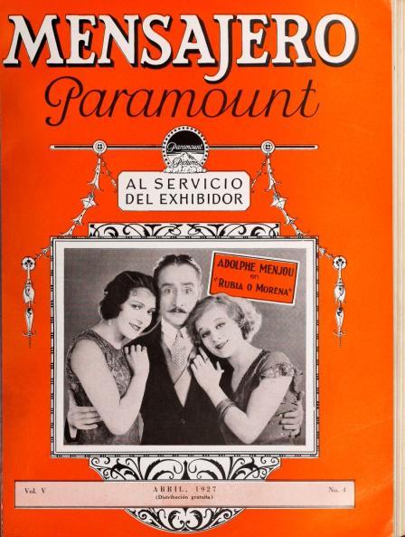 Mensajero Paramount, abril 1927