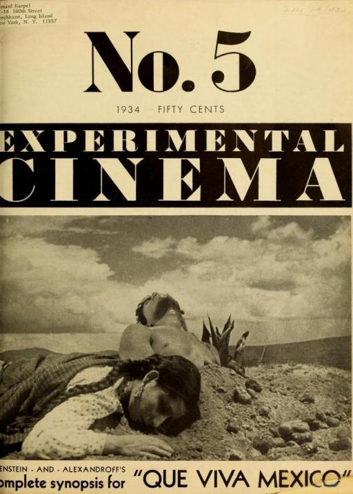 Portada del no. 5 de Experimental Cinema correspondiente a febrero de 1934