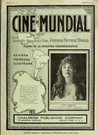 Primer número de Cine-Mundial de enero de 1916