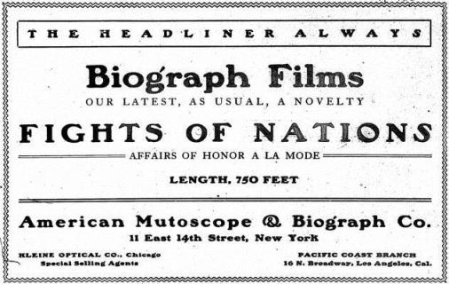The Moving Picture World del 7 de marzo de 1907 (Vol. I, No. 1, p. 2)