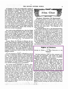 The Moving Picture World del 7 de marzo de 1907 (Vol. I, No. 1, p. 9)