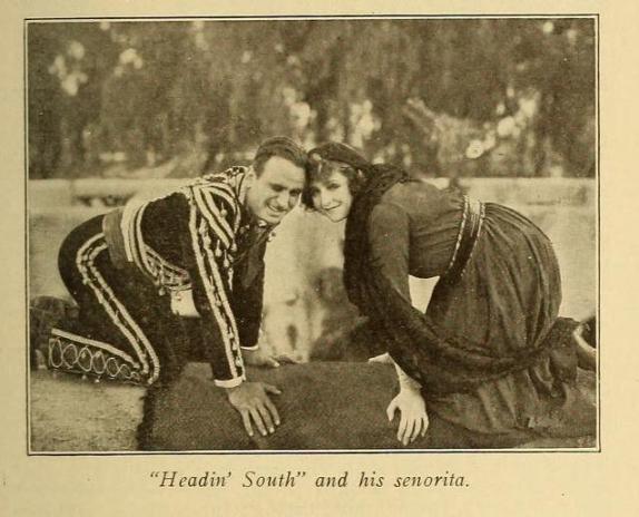 Fotograma de Headin' South aparecido en Motograpy del 16 de marzo de 1918 (Vol XIX, No. 11, p. 521)