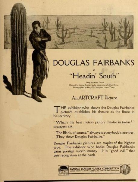 Anuncio publicado en The Moving Picture World del 9 de marzo de 1918 (Vol. XXXV, No. 10, p. 1303)