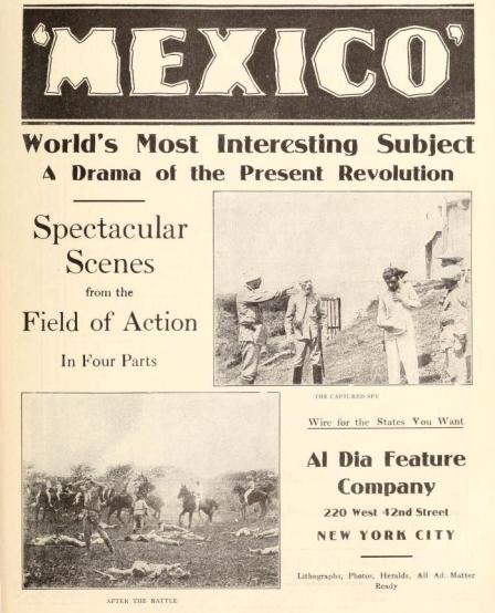 Anuncio de The Motion Picture News del 14 de febrero de 1914 (Vol. IX, No. 6, p. 9)
