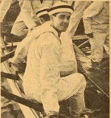 Ramón Novarro durante la filmación de The Mid