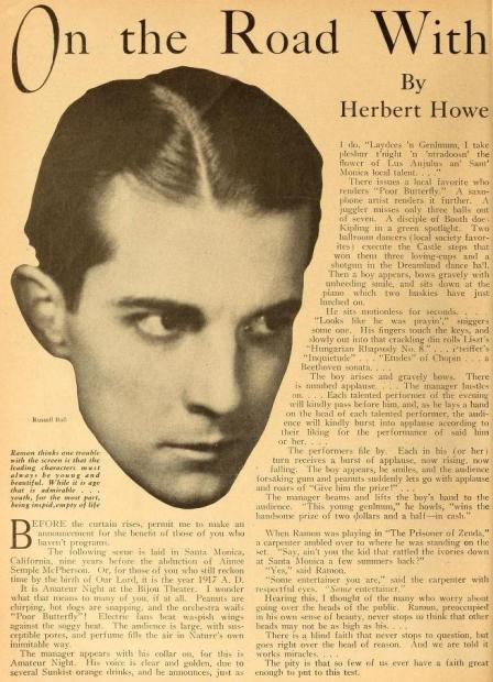 Motion Picture Magazine de mayo de 1927 (Vol. XXXIII, No. 4, p. 56)