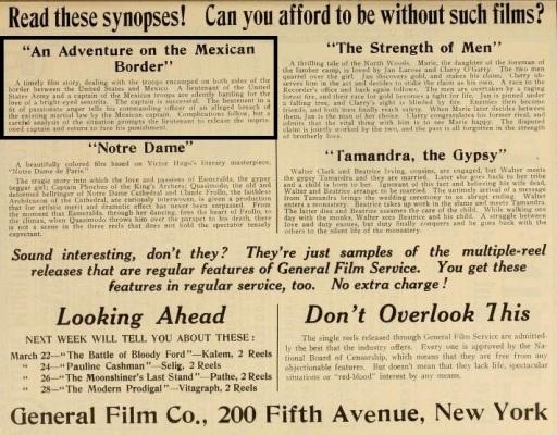 The Moving Picture World del 15 de marzo de 1913 (Vol. XV, No. 11, p. 1073)