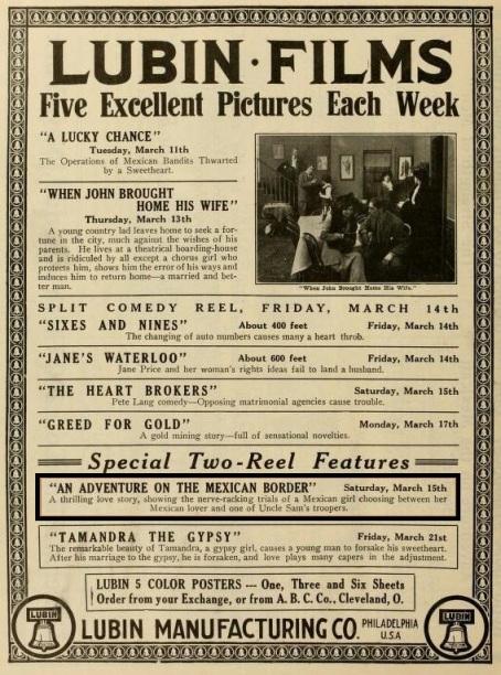 The Moving Picture World del 15 de marzo de 1913 (Vol. XV, No.  11, p. 1074)