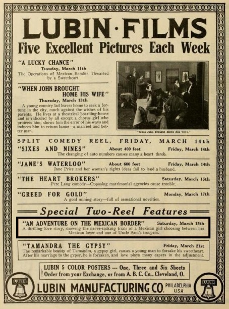 The Moving Picture World del 15 de marzo de 1913 (Vol. XV, No.  11, p. 1074)