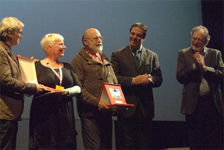 Entrega del Premio Jean Mitry al Dr. Aurelio de los Reyes (Foto: Blanca Estela Rodríguez)