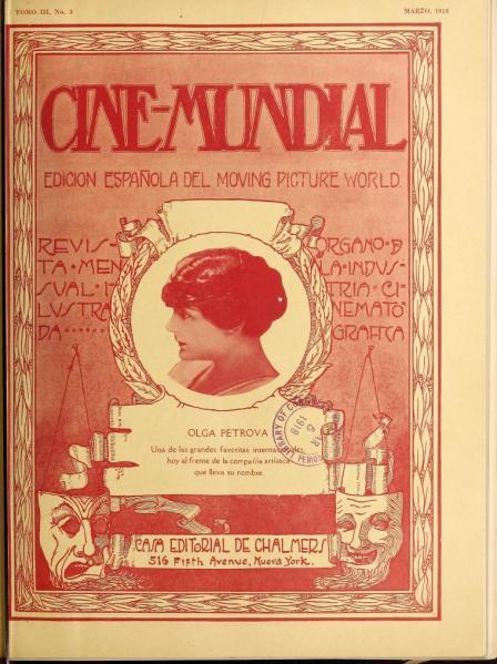Cine-Mundial de marzo de 1918
