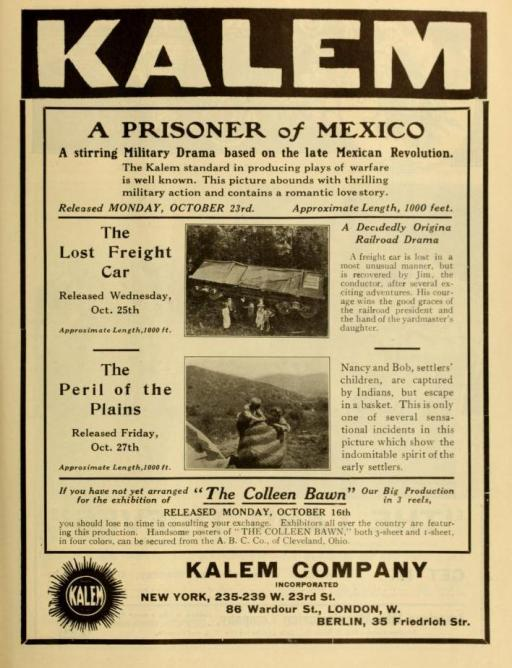 The Moving Picture World del 7 de octubre de 1911 (Vol, 10, no. 1, p. 99)