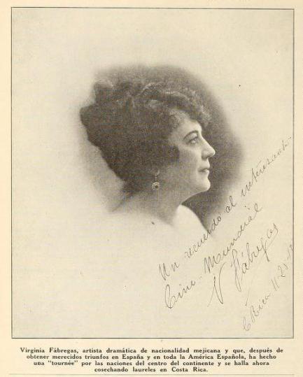 Virginia Fábregas (1870-1950) en Cine-Mundial de enero de 1921 (Vol. VI, No. 1, p. 98)