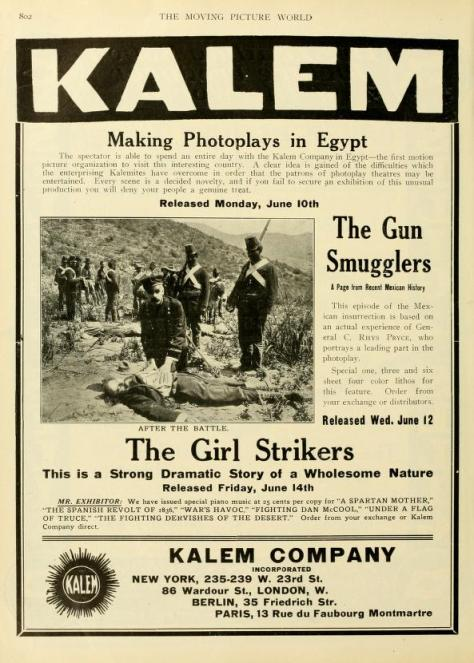The Moving Picture World del 1 de junio de 1912 (Vol. XII, No. 9, p. 802)