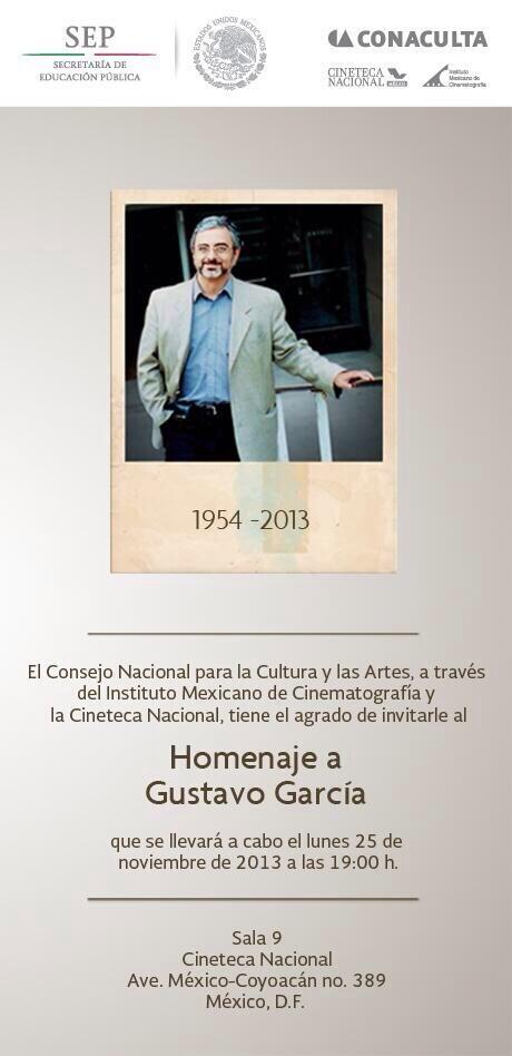 Homenaje a Gustavo García