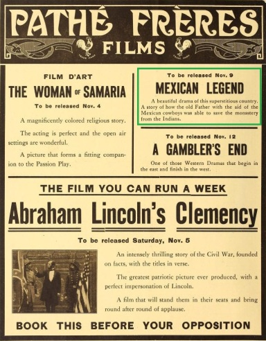 The Film Index del 5 de noviembre de 1910 (Vol. VI, No. 19, 2a. forros)