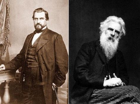 Leland Stanford (a la izquierda) y Eadweard Muybridge (a la derecha)