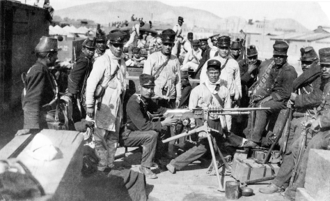A_257_Artilleros_federales_en_Torreón_(1912)